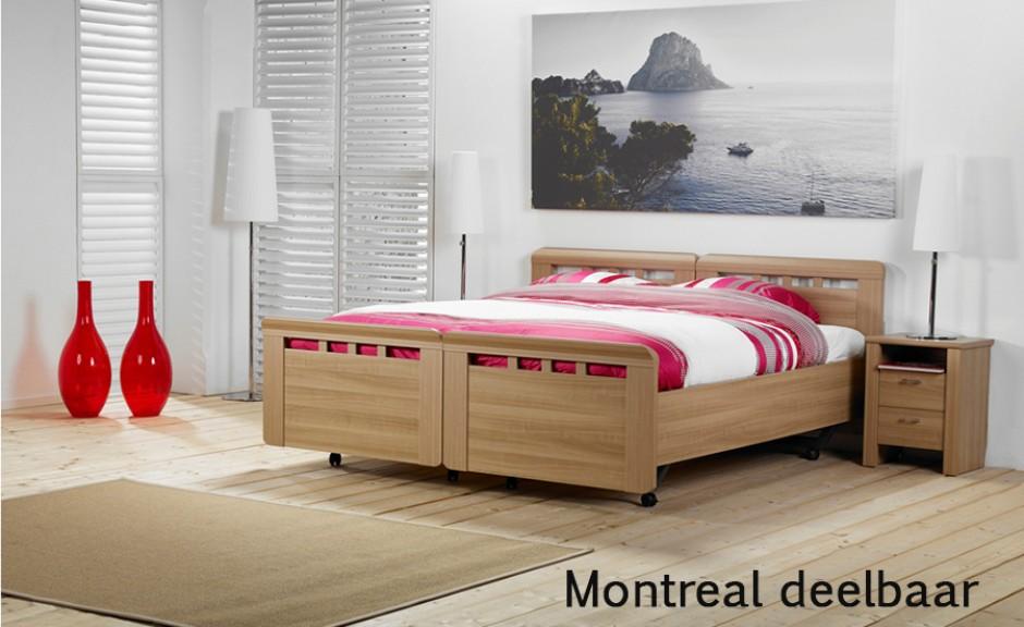 Bedtextiel Vroomshoop model Montreal deelbaar/uitrijdbaar 2-persoons ledikant.